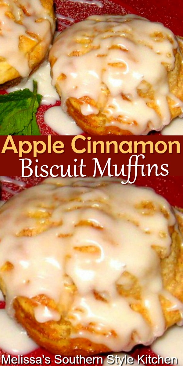 Make a fresh start to your day with these delicious Apple Cinnamon Biscuit Muffins #applemuffins #biscuits #cinnamonapples #biscuitmuffins #applebiscuits #biscuitrecipes #southernbiscuits #brunch #fallbaking #holidaybaking #southernrecipes #southernfood #cinnamonbiscuits