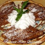 Bananas Foster Quesadillas With A Caramel Rum Sauce