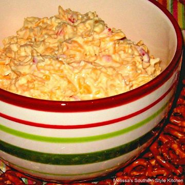 Southern style Creamy Three Cheese Pimento Cheese