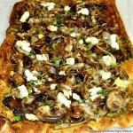 Mushroom Caramelized Onion Goat Cheese Pizza