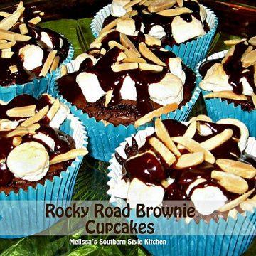 Rocky Road Brownie Cupcakes recipe