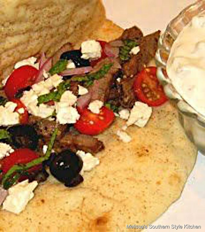 Steak Gyros With Tzatziki Sauce Melissassouthernstylekitchen Com