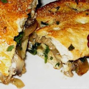 Turkey Sausage Spinach Calzone