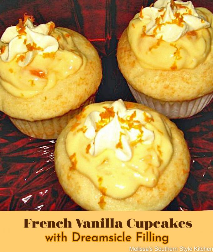 how to make French Vanilla Cupcakes with Dreamscicle Filling
