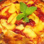 baked Peach Raspberry Galette