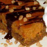Caramel Chocolate Almond Gooey Butter Cake