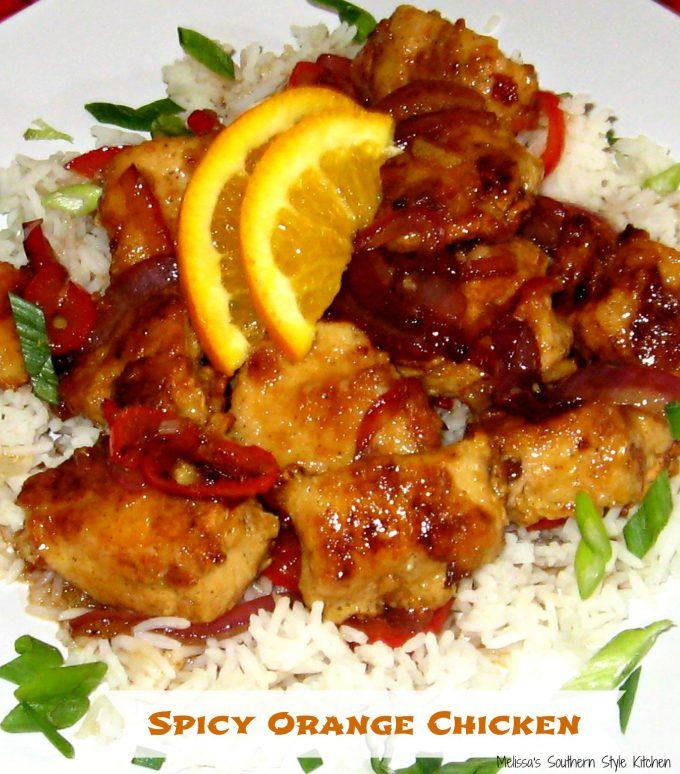 Spicy Orange Chicken - melissassouthernstylekitchen.com