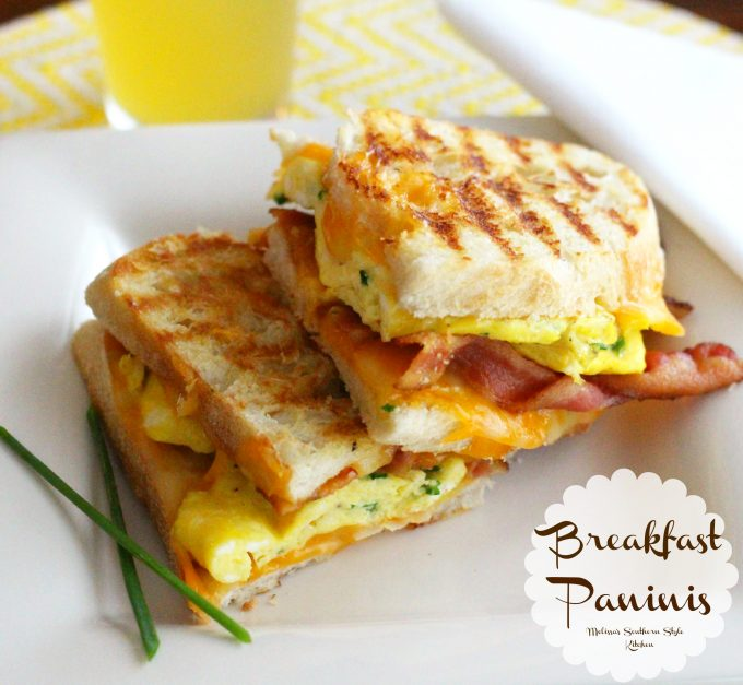 Breakfast Bacon Egg and Grilled Cheese Paninis ...