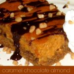 Caramel Chocolate Almond Gooey Butter Cake