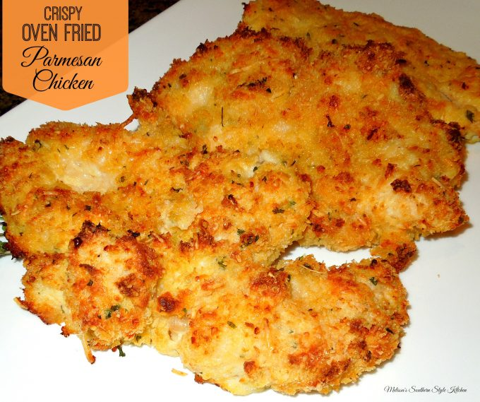 Crispy Oven Fried Parmesan Chicken - melissassouthernstylekitchen.com