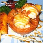 Pineapple Kabobs With Macadamia Toffee Cookie Bowls