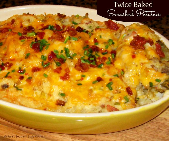 Twice Baked Smashed Potatoes