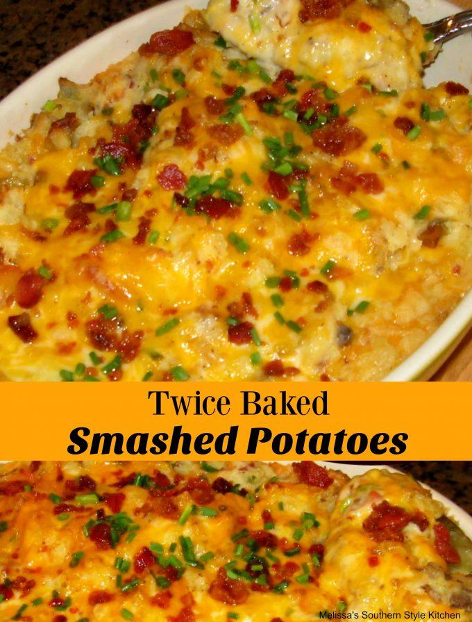 Twice Baked Smashed Potatoes