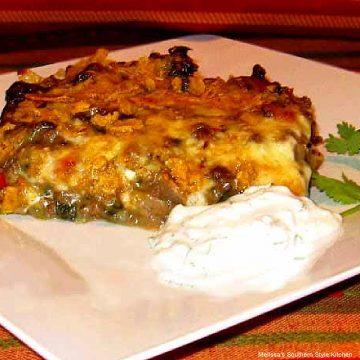 Beef Spinach and Potato Casserole recipe