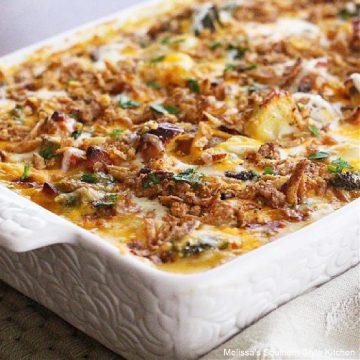 New Potato Ham and Broccoli Cheese Casserole recipe