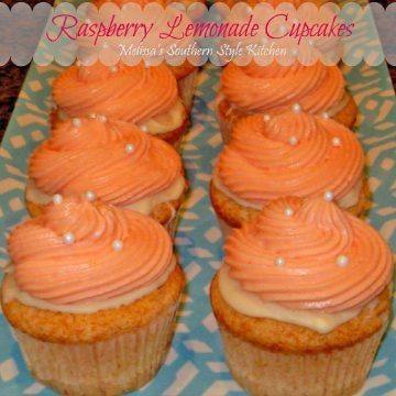 Raspberry Lemonade Cupcakes with cake mix
