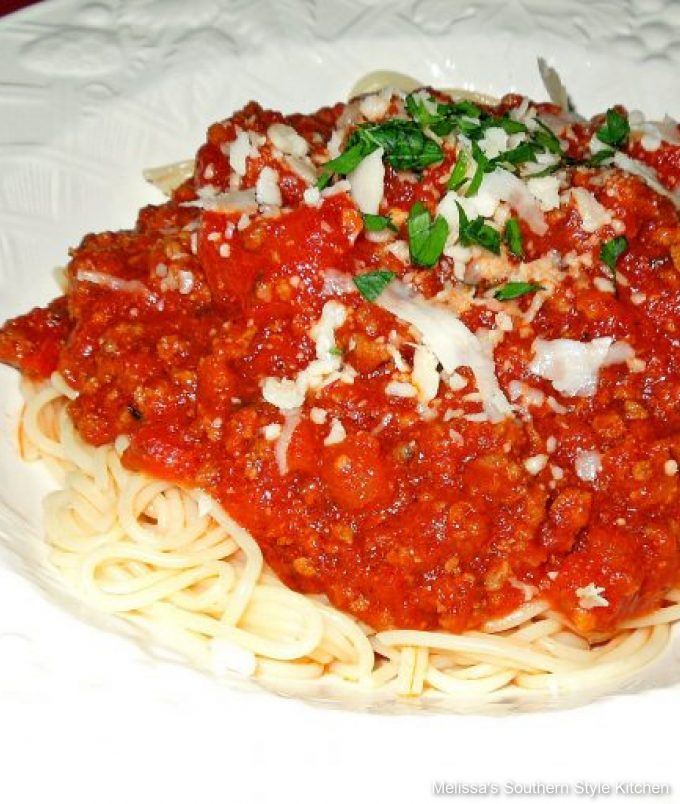Southern style Slow Cooked Spaghetti Sauce