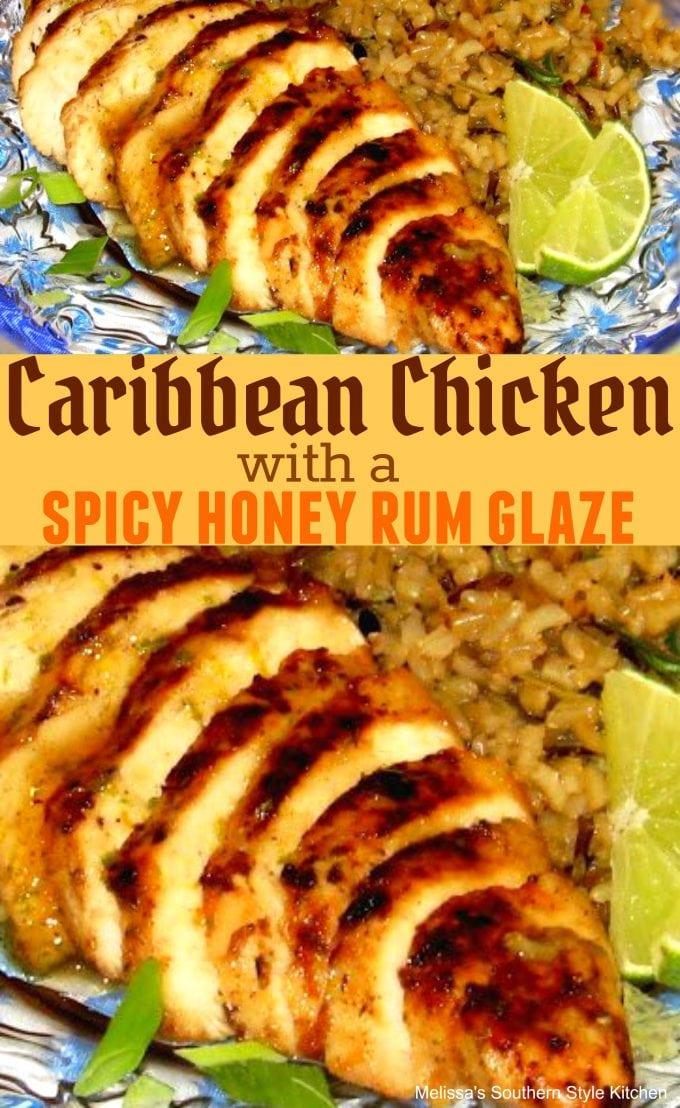 Caribbean Chicken With A Spicy Honey Rum Glaze