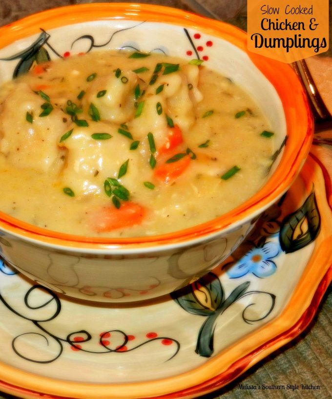 Slow cooked chicken and dumplings melissassouthernstylekitchen slow cooked chicken and dumplings ccuart Gallery