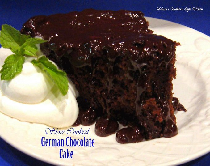 Slow Cooked German Chocolate Cake - melissassouthernstylekitchen.com