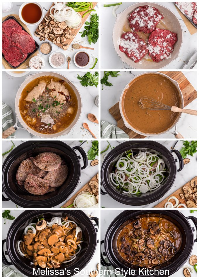 how to make Slow Cooked Smothered Cubed Steak with Gravy