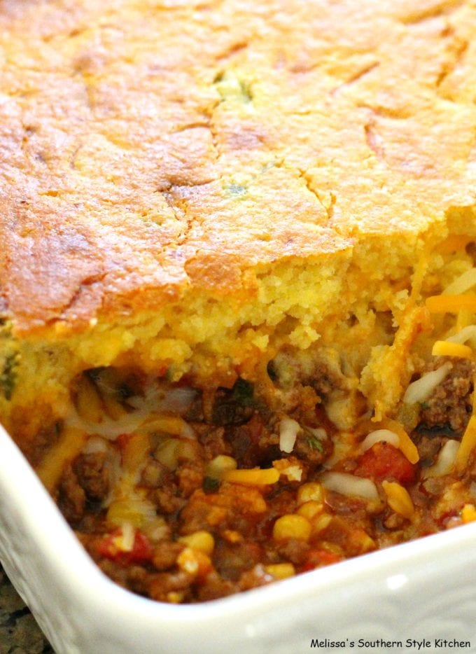 baked casserole in a dish