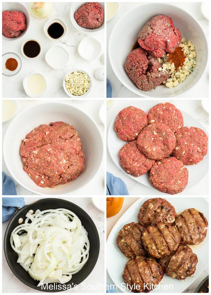 how to make Black and Bleu Burgers