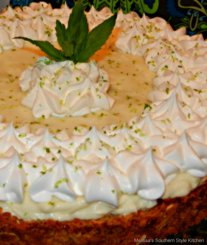 Key Lime Tart garnished with lime zest