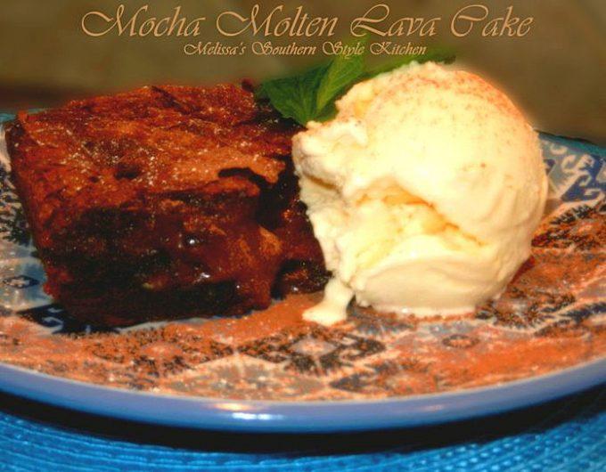 Mocha Molten Lava Gooey Butter Cake