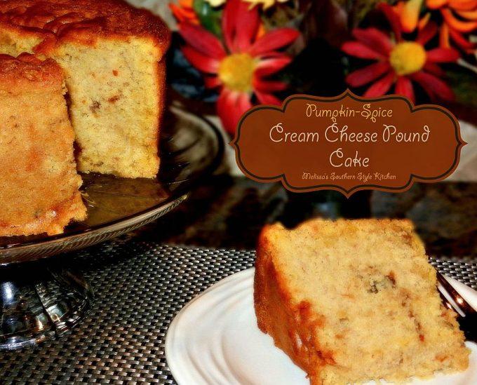 Pumpkin spice pound cake recipe