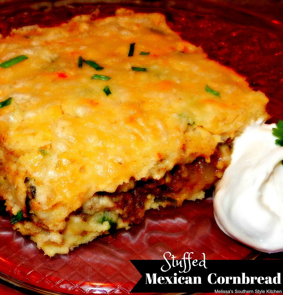 Stuffed Mexican Cornbread Melissassouthernstylekitchen Com