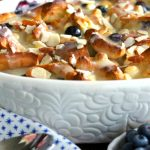 White Chocolate Blueberry Bread Pudding