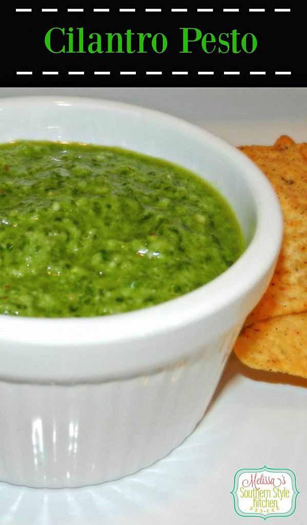 cilantro pesto plated
