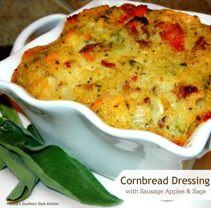 Cornbread Dressing With Sausage Apples And Sage ...