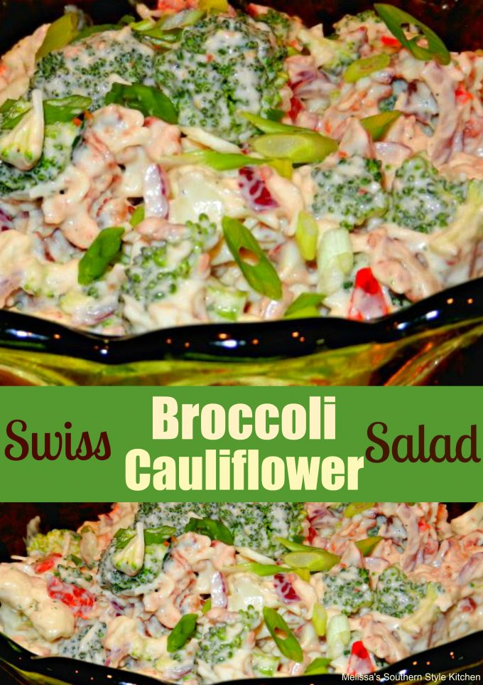 Swiss Broccoli-Cauliflower Salad