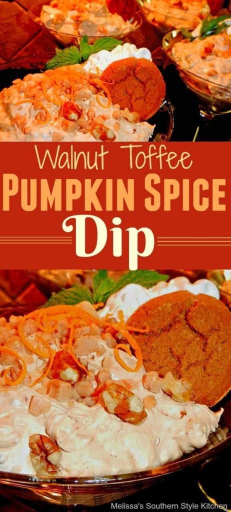 Walnut Toffee Pumpkin Spice Dip