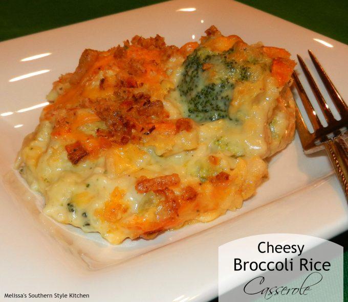 Cheesy Broccoli Rice Casserole - melissassouthernstylekitchen.com