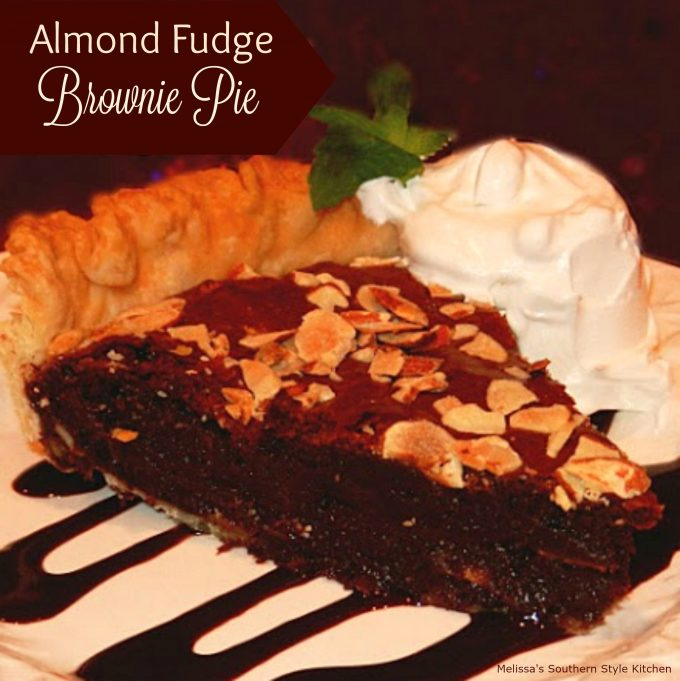 Almond Fudge Brownie Pie