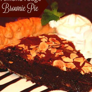 Almond Fudge Brownie Pie Recipe