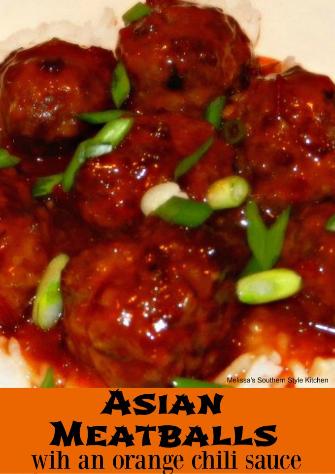 Slow Cooked Asian Meatballs With An Orange Chili Sauce