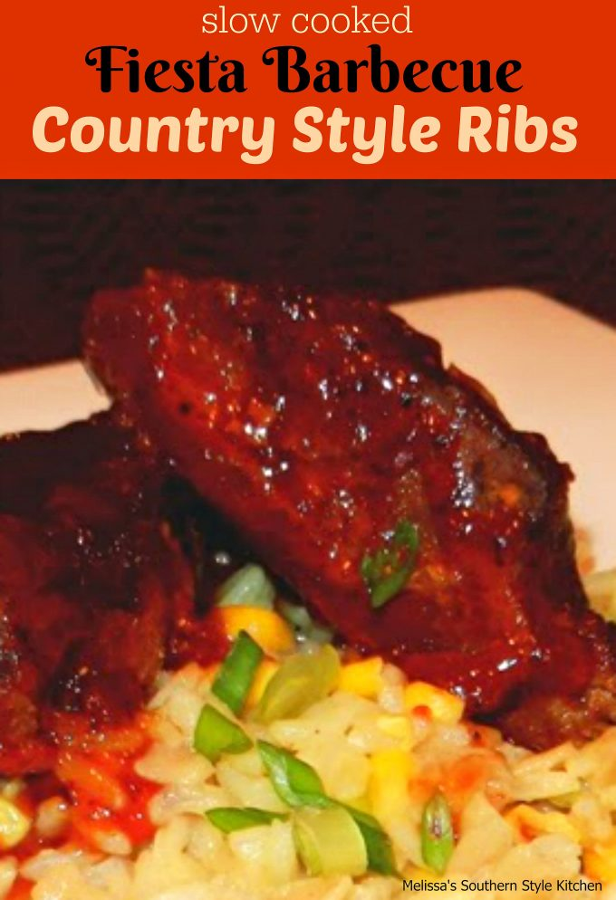 How To Cook Beef Country Style Ribs Part - 29: Slow Cooked Fiesta Barbecue Country Style Ribs -  Melissassouthernstylekitchen.com