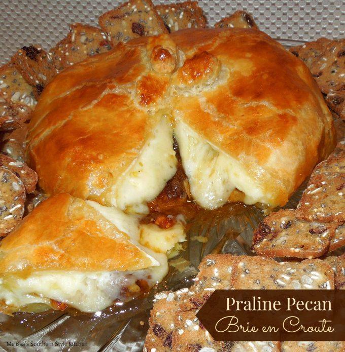 Praline Pecan Brie en Croute