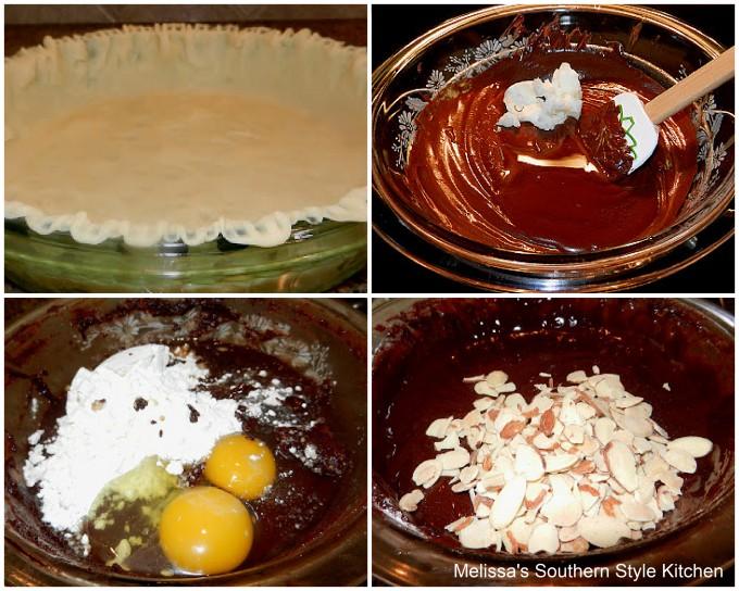 ingredients-to-make-almond-fudge-brownie-pie
