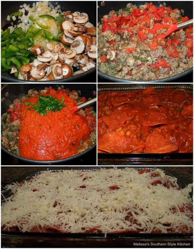 Baked Pizza Spaghetti ingredients