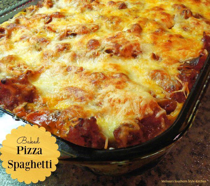 Baked Pizza Spaghetti