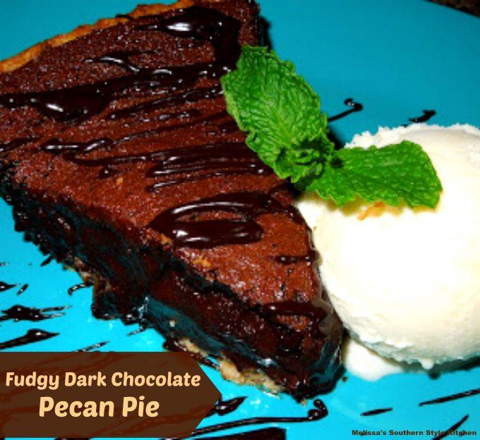 Fudgy Dark Chocolate Pecan Pie
