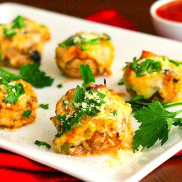 Supreme Pizza Stuffed Mushrooms Recipe