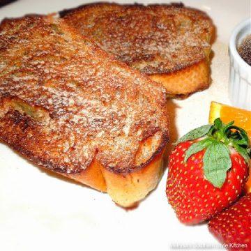 Orange Cinnamon Baked French Toast plated