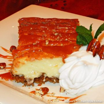 Caramel Praline Pecan Gooey Butter Cake recipe