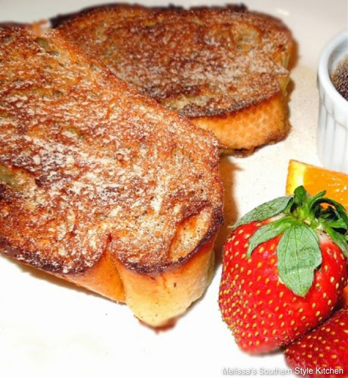 Orange Cinnamon Baked French Toast made with french bread